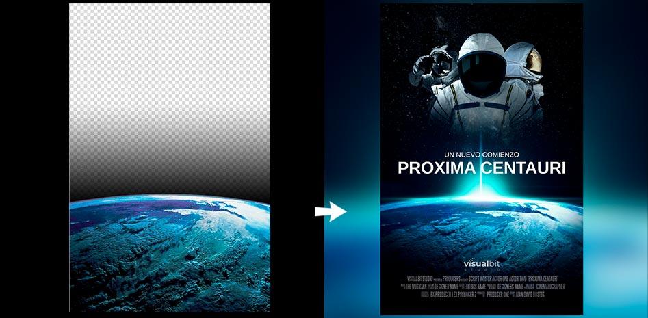 photoshop degradado y transparencia