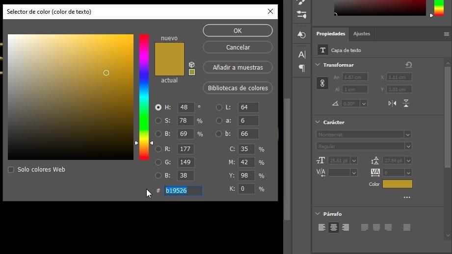 Photoshop Efecto Texto Oro Img. 1