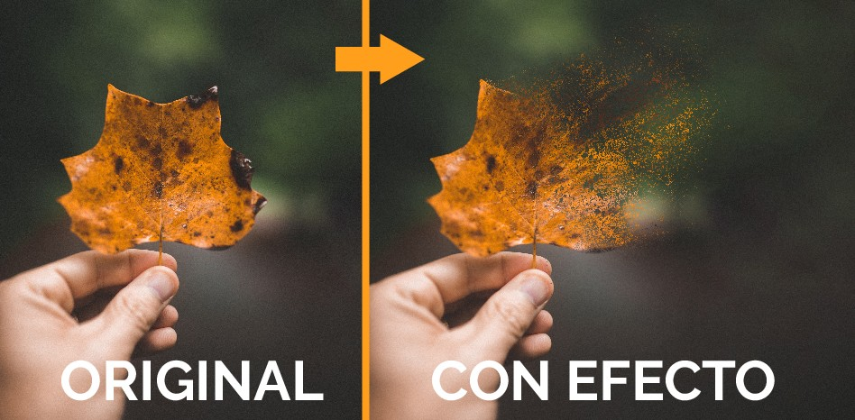 efecto desintegrar photoshop facil