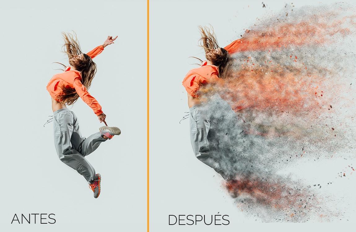 Efecto de desintegración para Photoshop