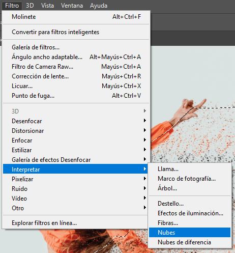 efecto desintegracion phothoshop, desintegrar imagen