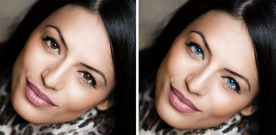 Cambiar color de ojos Photoshop. Articulo.