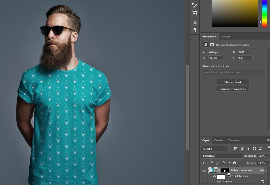 Aplicar motivo/patron Photoshop