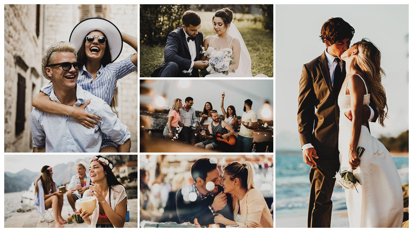Galeria collage Presets bodas Lifestyle