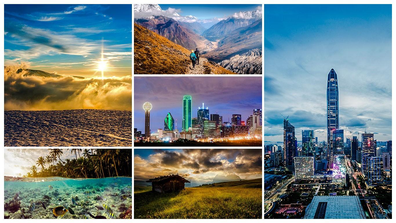 Galeria collage Presets Paisajes