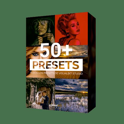 PORTADA 50+ PRESETS PNG