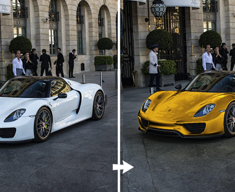 color dorado en photoshop
