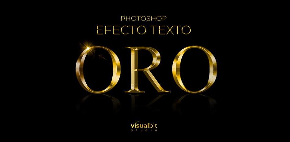 Photoshop Efecto Texto Oro Featured Image