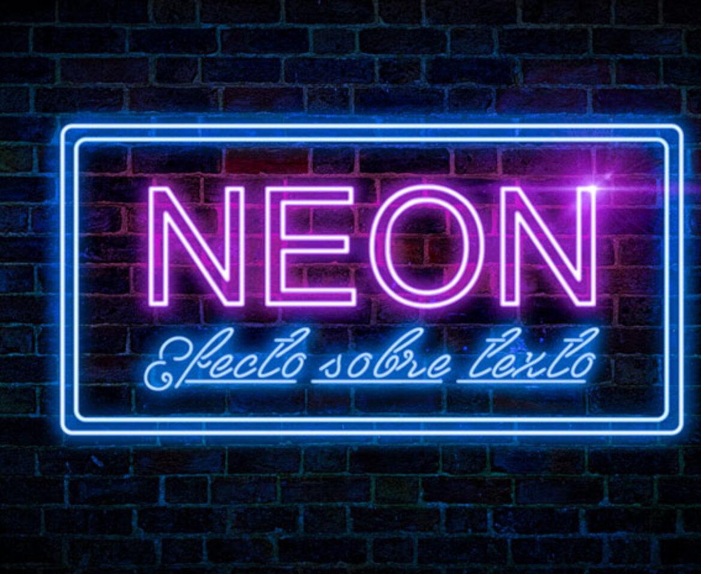 Efecto neon Photoshop sobre textos