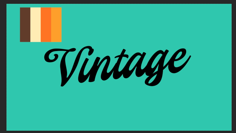 Texto vintage